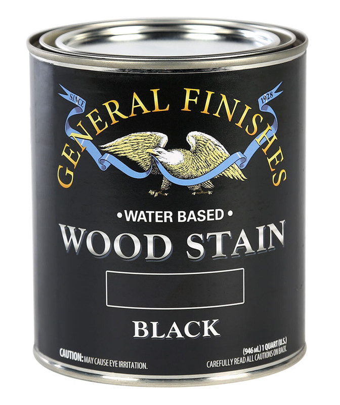 GENERAL WOOD STAIN BLACK 1QT