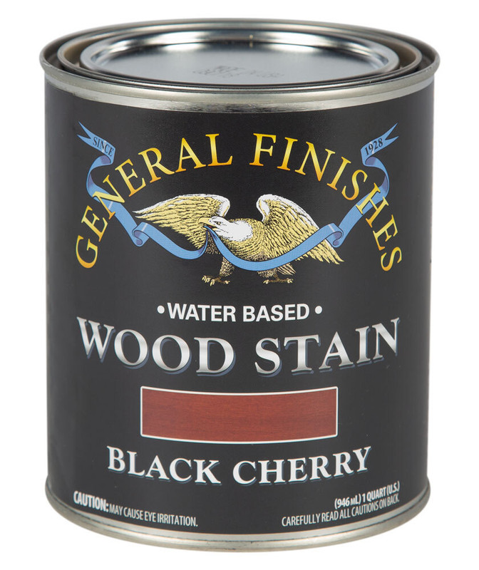 GENERAL WOOD STAIN BLACK CHERRY 1QT