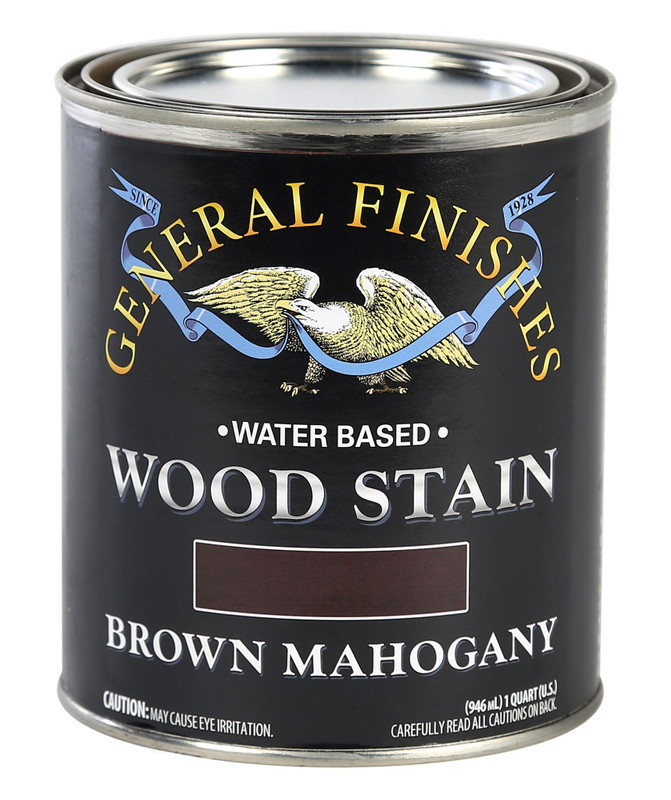 GENERAL WOOD STAIN BROWN MAHOGANY 1QT