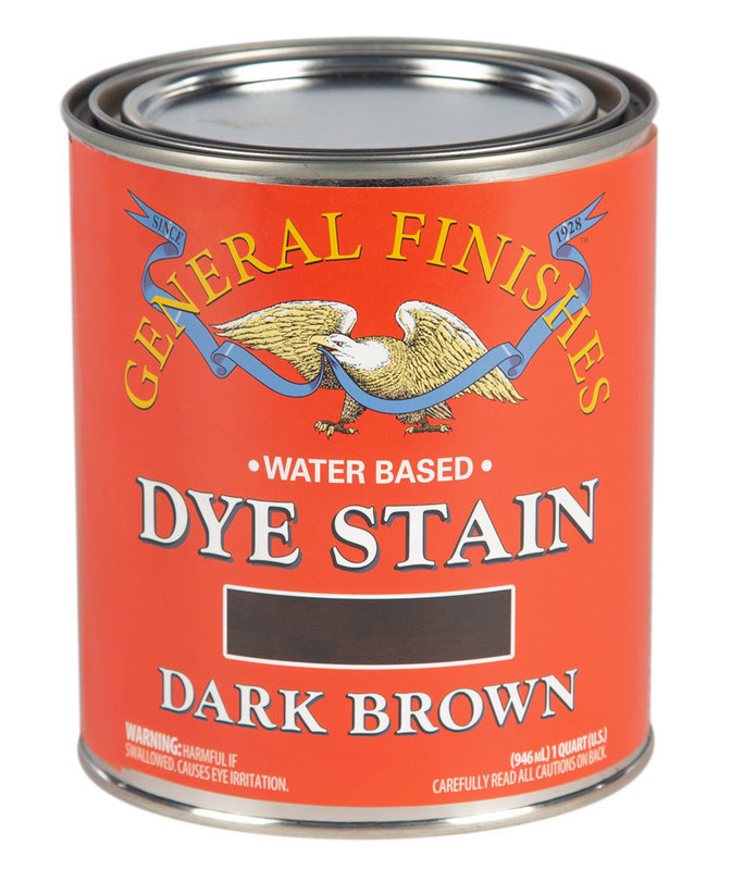 GENERAL DYE STAIN DARK BROWN 1QT