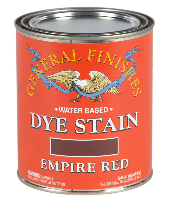 GENERAL DYE STAIN EMPIRE RED 1QT