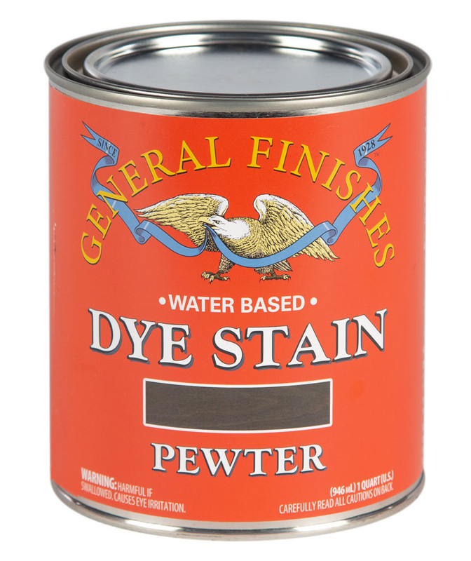 GENERAL DYE STAIN PEWTER 1QT