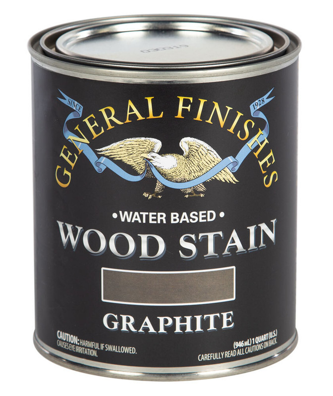 GENERAL WOOD STAIN GRAPHITE 1QT