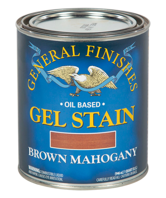 GENERAL GEL STAIN BROWN MAHOGANY 1QT