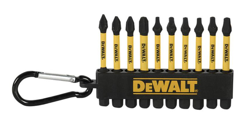 DEWALT 10PC 2 MIXED CARABINER BIT SET
