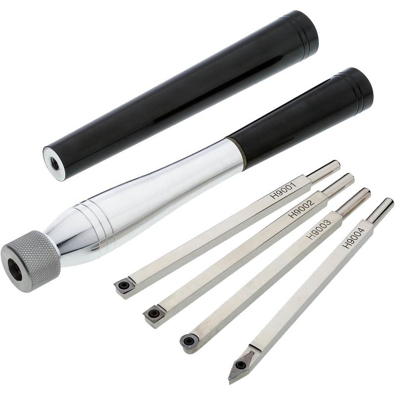 6PC WOODTURNING CHISEL SET WITH CARBIDE
