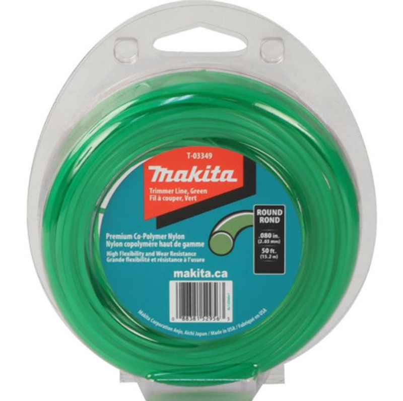 MAKITA ROUND TRIMMER LINE GREEN 50FT .080IN.