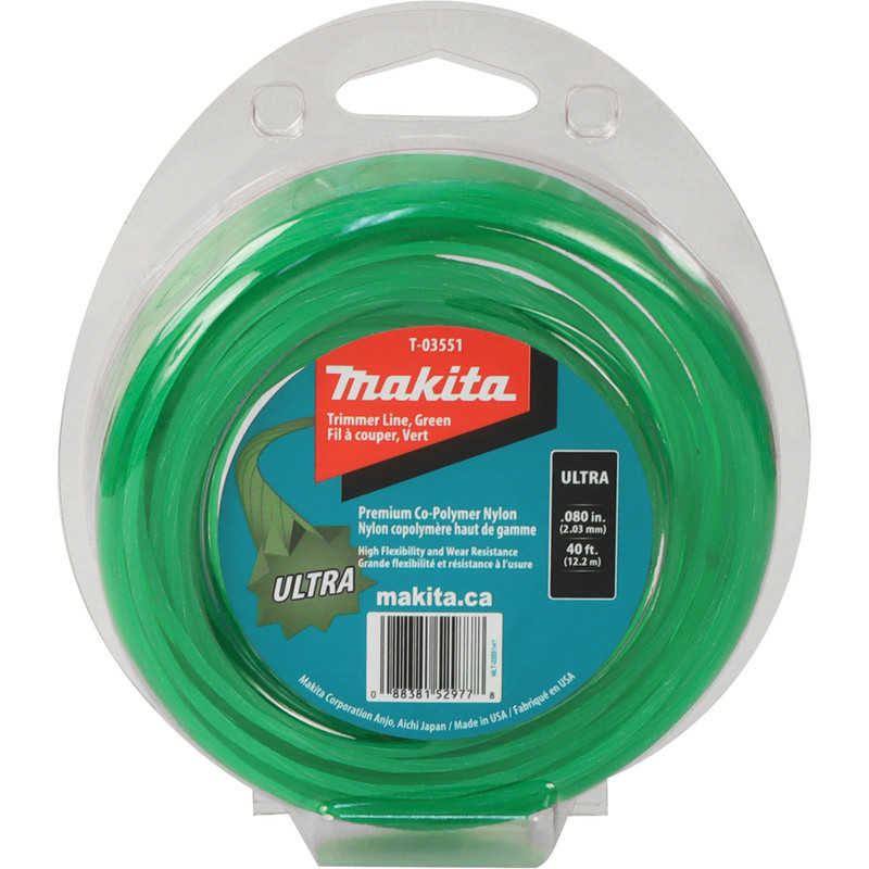 MAKITA ULTRA TRIMMER LINE GREEN 40FT .080