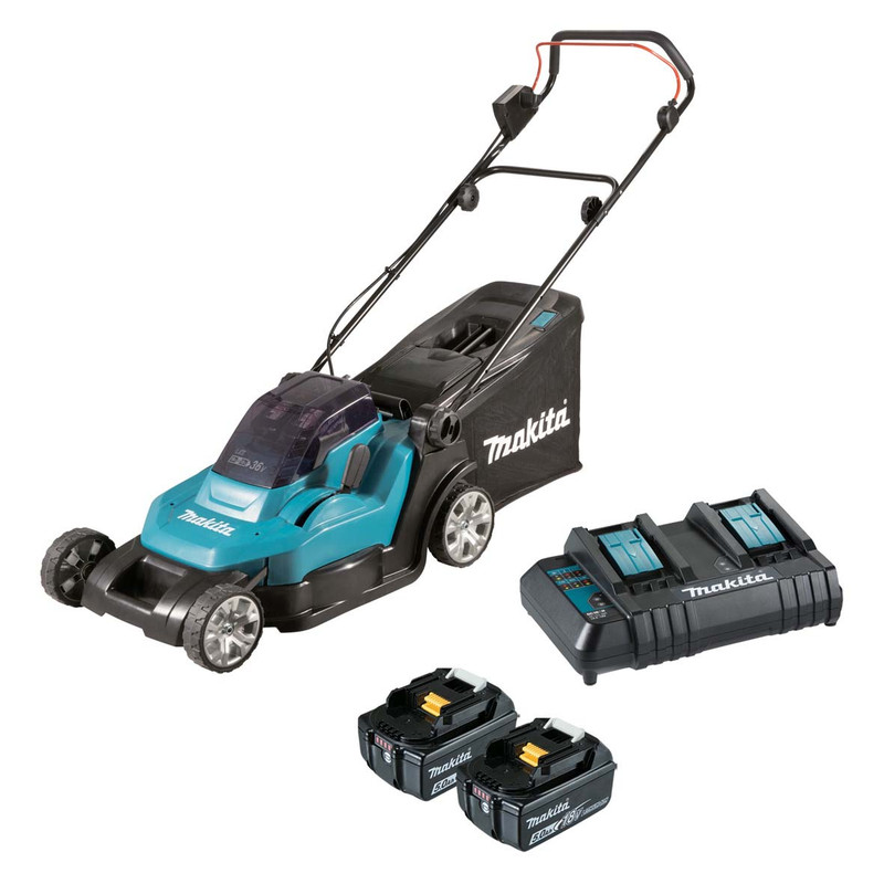 18V LAWN MOWER KIT W/ 5AH 2 BATTERY AND CH