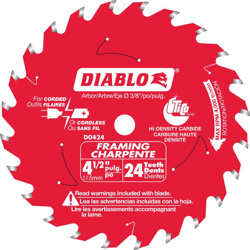 DIABLO 4 1/2IN. X 24T FRAMING BLADE