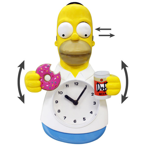 Homer Simpson Animated Clock