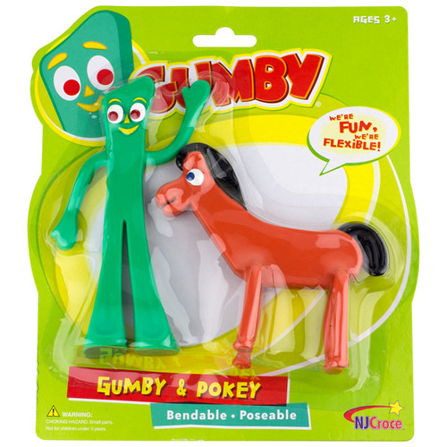 Gumby and Pokey 6 inch Bendable Pair