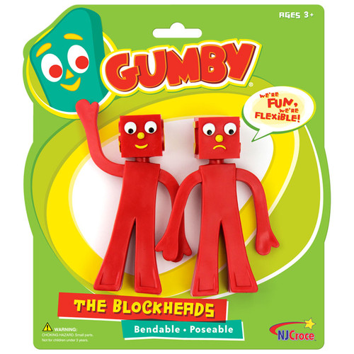 Blockheads 5 inch Bendable Pair