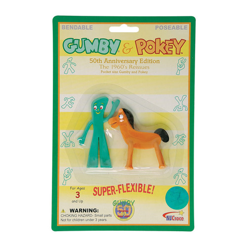 Retro Gumby and Pokey Mini Bendable Pair