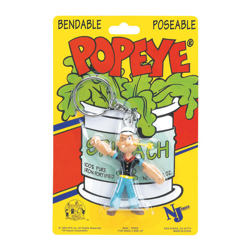 Popeye 3 inch Bendable Keychain
