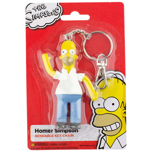 Homer Simpson 3.5 inch Bendable Keychain