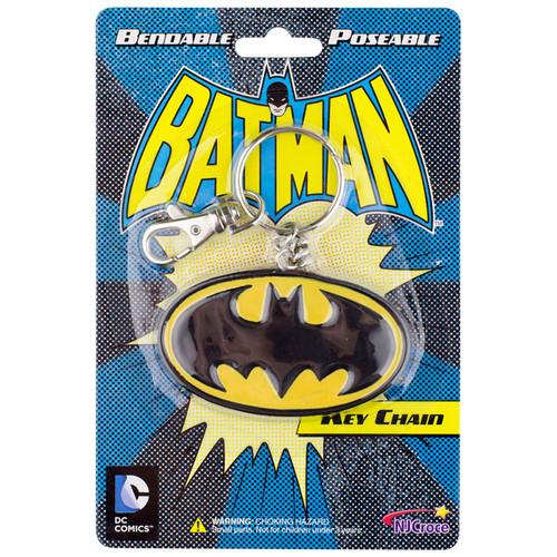 Batman Logo 3in Bendable Key Chain