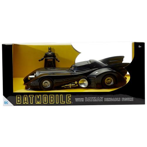 "10"" 1989 Batmobile with 3"" Batman Bendable Figure"