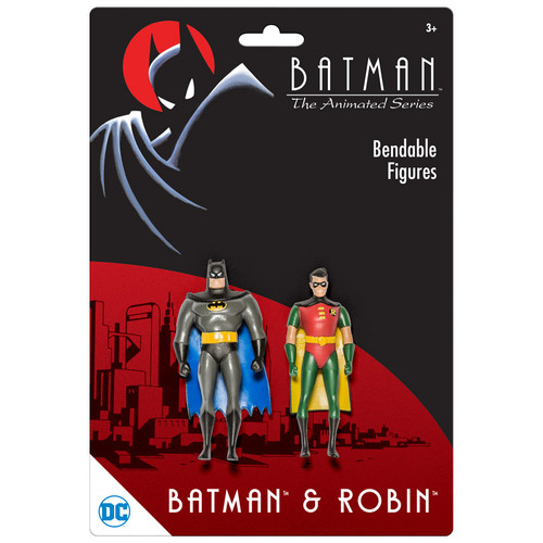 "BTAS Batman & Robin 3"" Bendable Pair"