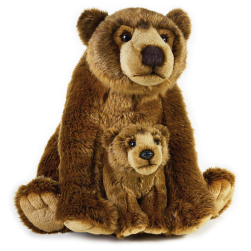 National Geographic Grizzly Bear with Cub 12""