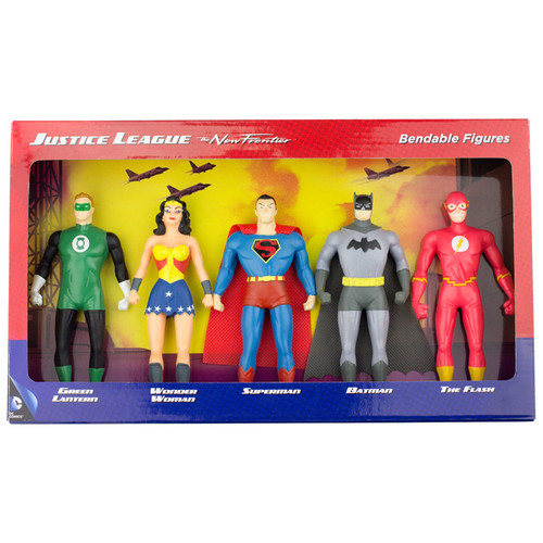 Justice League: The New Frontier 5-Piece Bendable Boxed Set