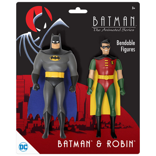 "BTAS Batman & Robin 5.5"" Bendables (Blister Carded)"