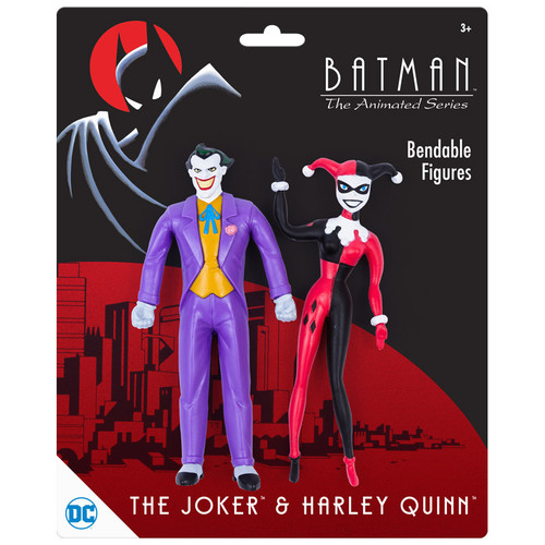BTAS Joker & Harley Quinn Bendable Pair