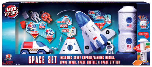 Astro Venture Space Collection:  Space Station, Shuttle, Capsule and Rover Ultimate Playset