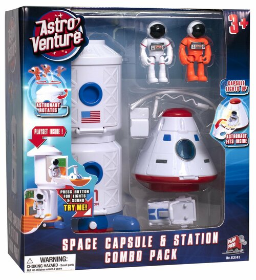Astro Venture Space Collection: Space Station and Capsule Combo