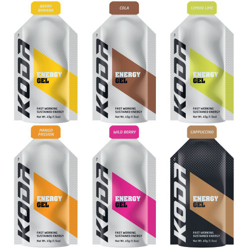 KODA Energy Gels - 8 Flavours - Mix & Match - Buy in Bulk and Save