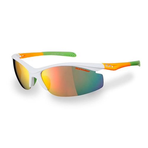 Sunwise Peak Sunglasses - White Orange/Green