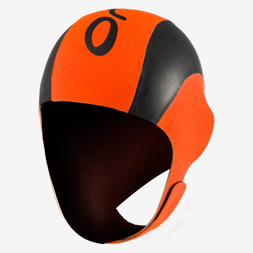Orca Neoprene Hi Vis Swim Cap - Orange