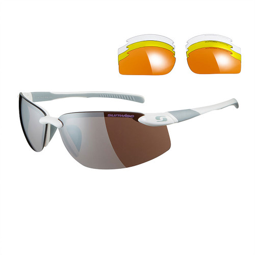 Sunwise Pacific Sunglasses with 4 Lens - White