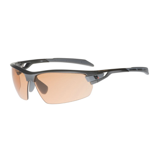 This Hi Definition Copper coloured lens will change from Cat1 pre dawn or low light to dark Cat3 as the sun intensifies and the UV increases.