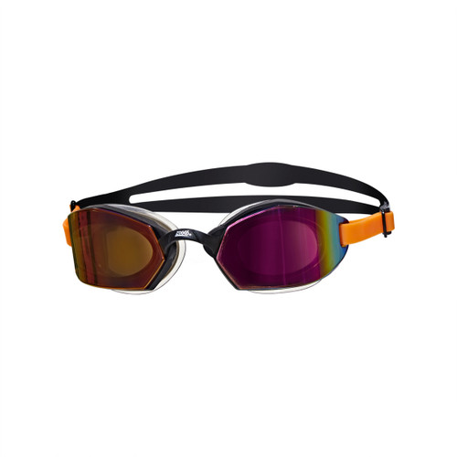 Zoggs Ultima Air Titanium Goggles - Black/Orange