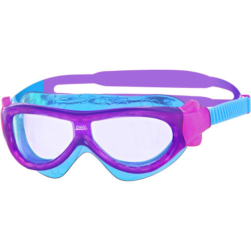 Zoggs Phantom Junior Goggles - Pink/Purple/Light Blue Mask