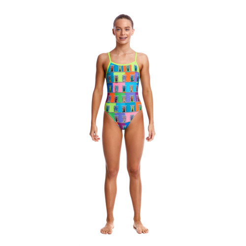 Funkita Girls Single Strap One Piece - Vacancy