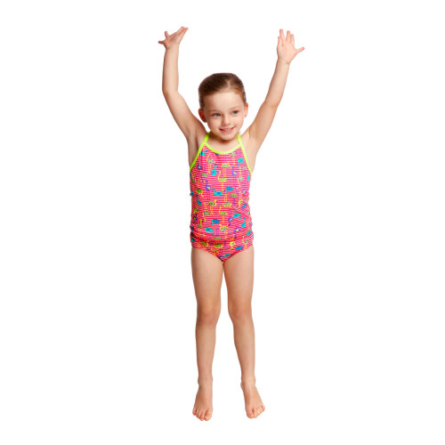 Features a low leg, single strap bind with Funkita embroidered logo and full front lining.