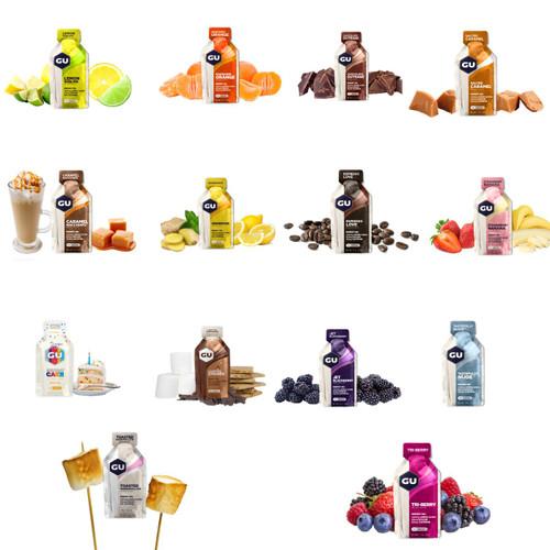 Gu Energy Gels Variety Pack - Try 12 Flavours