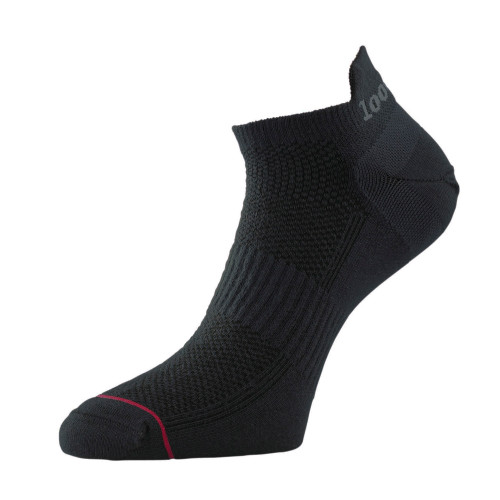 1000 Mile Socks - Mens Ultimate Tactel Trainer Liner - Black