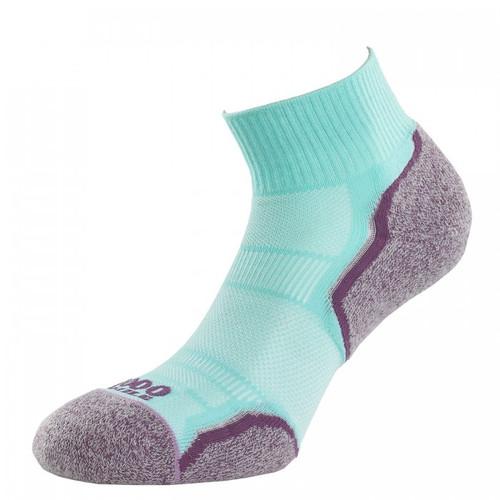 1000 Mile Socks - Womens Breeze Anklet - Mint/Purple