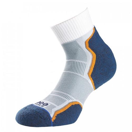 1000 Mile Socks - Mens Breeze Anklet - Grey/Navy
