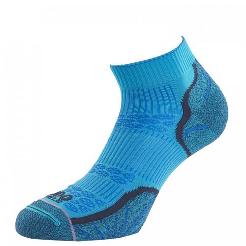 1000 Mile Socks - Womens Breeze Lite Anklet - Marine Blue