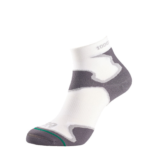 1000 Mile Socks - Womens Fusion Sport Anklet - White/Grey