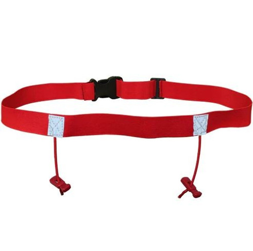 iRun Race Number Belt For Junior Fit - Red