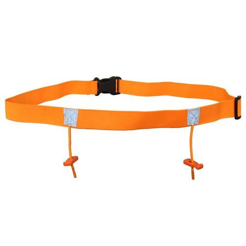 iRun Race Number Belt For Junior Fit - Fluro Orange