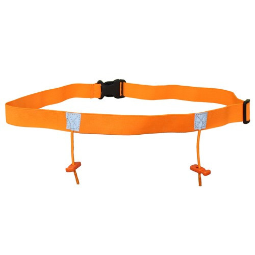 iRun Race Number Belt For Junior Fit - Fluro Orange