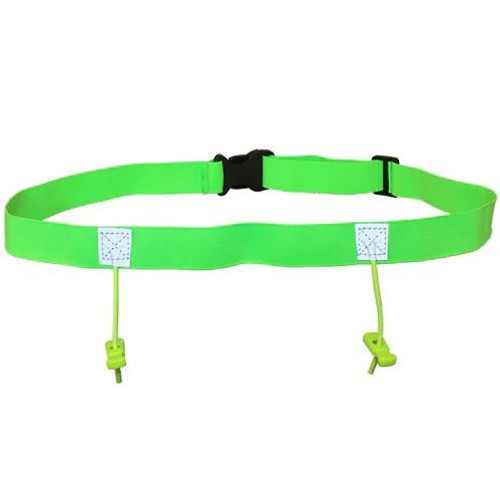 iRun Race Number Belt For Junior Fit - Fluro Green