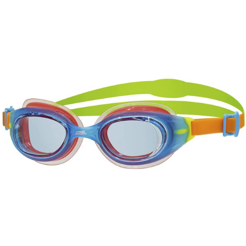 Zoggs Kids Little Sonic Air Goggle - Blue/Orange & Green / Tint