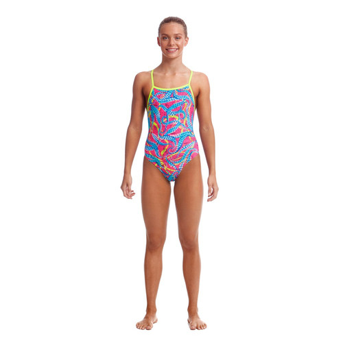 Funkita Girls Eco Tie Me Tight One Piece - Squeaky Squid
